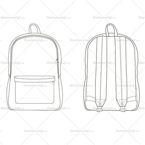backpack template accessories other illustrator stuff
