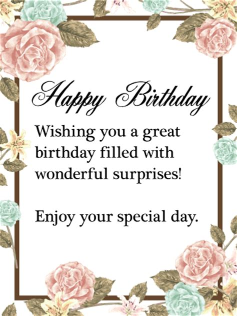 day special messages enjoy your special day happy birthday wishes card this