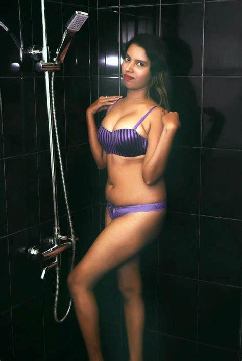 Amaya Wijewickrama Bikini Wet Photo Shoot