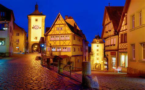 rothenburg ob der tauber night desktop hd wallpaper wallpaperscom