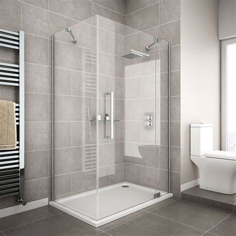 hinged frameless shower door apollo frameless hinged door rectangular enclosure r h