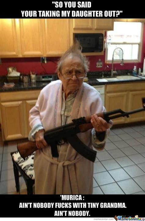 armed grandma by serkopat meme center