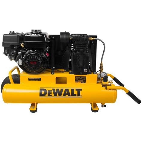 dewalt 8 gal 150 psi 5 5 hp belt drive gas powered