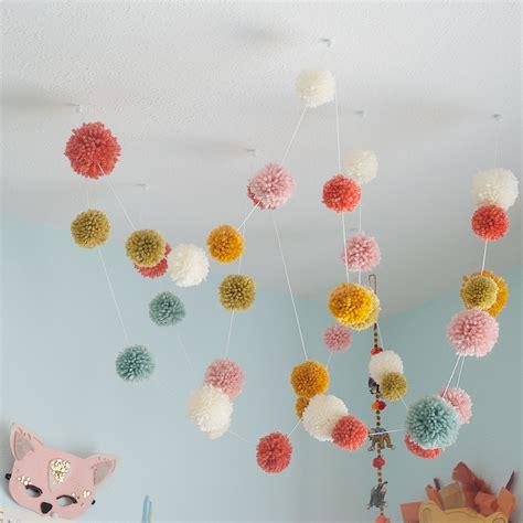 pom pom garland ceiling affair 18
