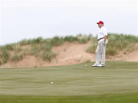 donald trump golf course anti trump voices grow louder in scotland after