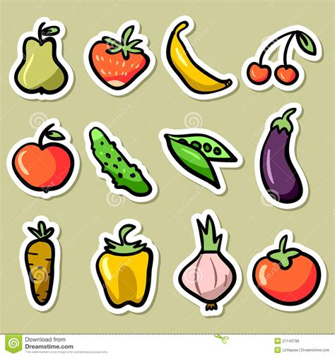 printable vegetable stickers fruit and vegetable set royalty free stock images image