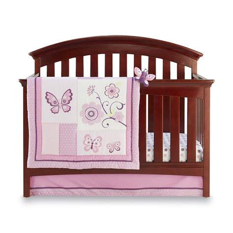 Butterfly Crib Sets by Nojo Infant S 4 Crib Set Butterfly Blossoms