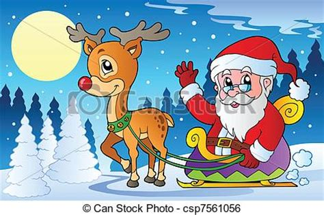 christmas themed drawing christmas scenes clipart many interesting cliparts