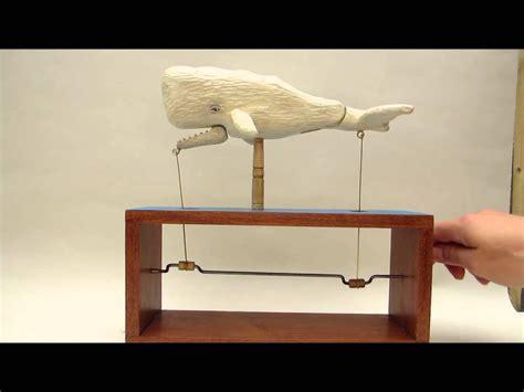 whale automaton wooden art kinetic toys wooden toys