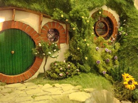 hobbits home my hand made hobbit hole bag end from lord of the rings