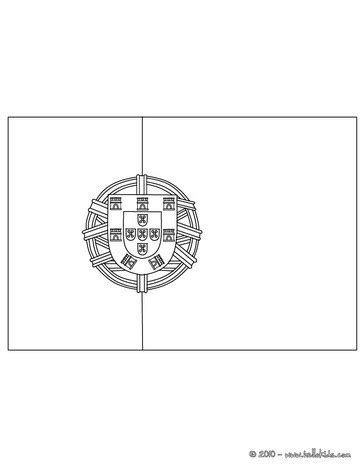 flag of portugal coloring pages hellokids com
