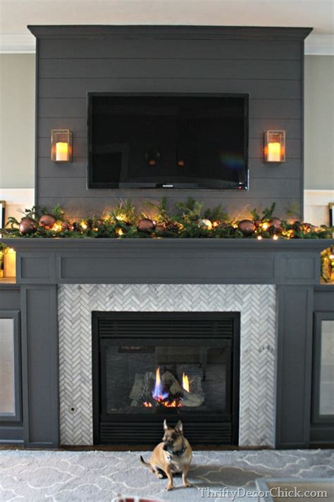 Shiplap Mantle Home Tour Part 1 From Thrifty Decor