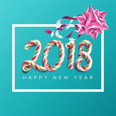 new year invitation greeting cards 2018 new year poster vector realistic bow