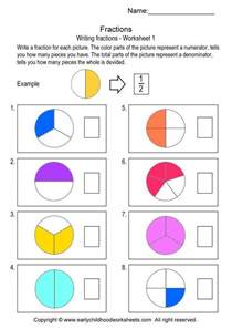 ideas about fractions worksheets for kindergarten easy