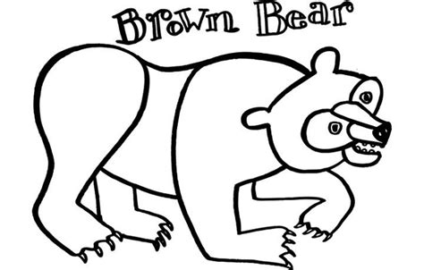 Brown Bear Brown Bear What Do You See Coloring Pages Brown Brown What Do You See Coloring Pages