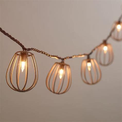 World Market Lights by Rustic Wire Cage 10 Bulb String Lights World Market