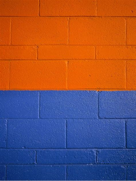 blue and orange photo exploration orange blue wall