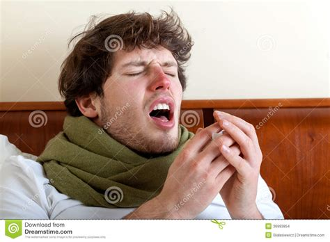 sneeze treatment with sinus infection stock images image 36993854