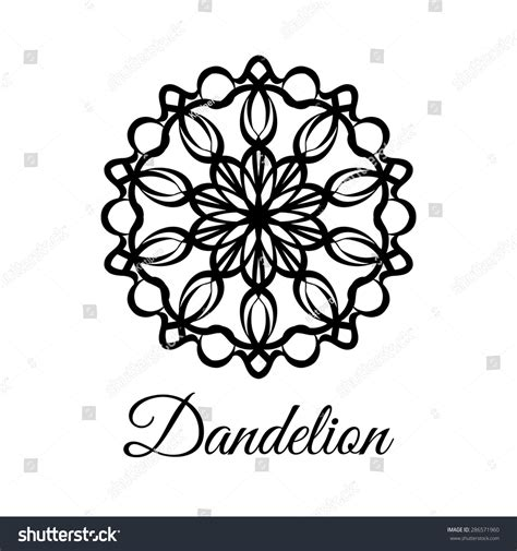 lace pattern logo lace classic calligraphy copperplate circle flower stock