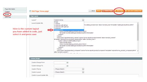 magento layout xml update handle how to add custom layout column in magento