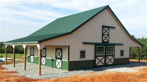 Barn Style Garage With Apartment by Virginia Barn Company Pole Barn Builder Va
