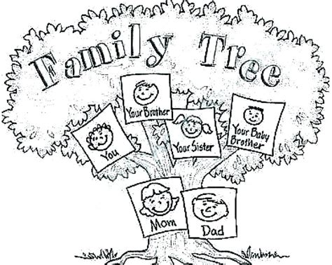 Coloring Pages Of Family Tree