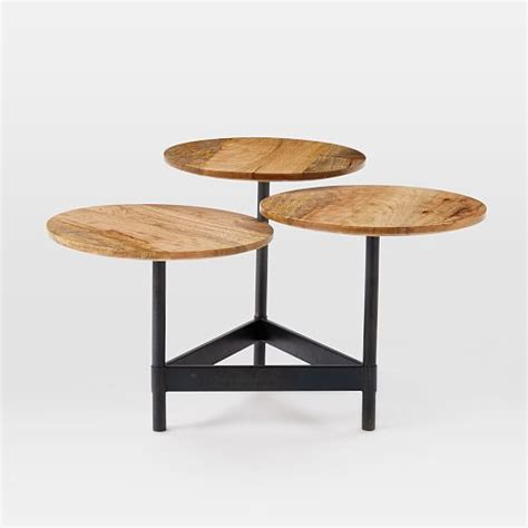 tiered coffee table tiered circles coffee table mango west elm