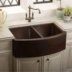 Front Apron Kitchen Sinks Elkay Ecuf3319ach Gourmet Undermount Apron Front Bowl Copper Kitchen Sink