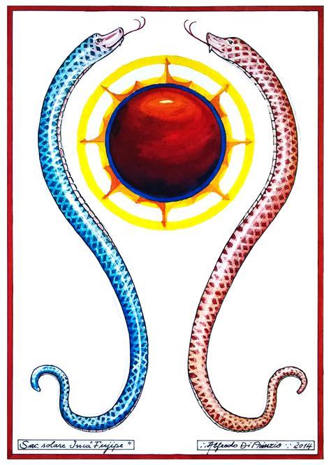 arte suprema trigono tavole simboliche sul serpente sacro della tradizione
