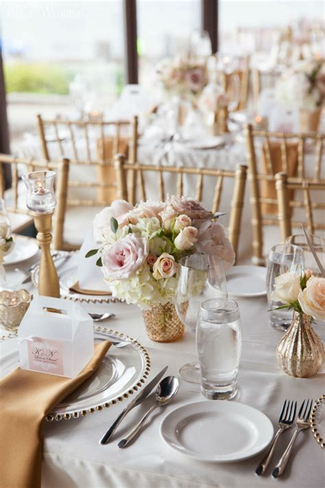 Flower Settings For Weddings by Soft Blush Pink And Gold Wedding Flowers And Decor