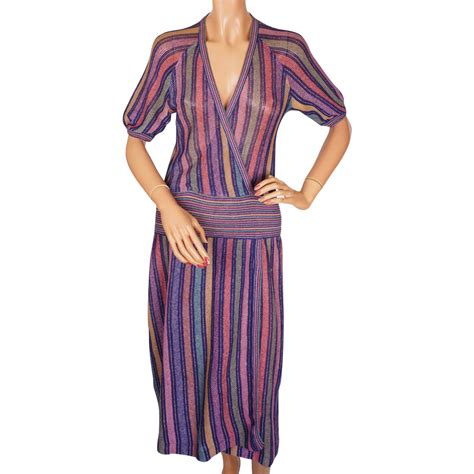 To The Bring A Missoni Bandeau Dress by Vintage 1970s Missoni For Bloomingdales Knit Linen Dress