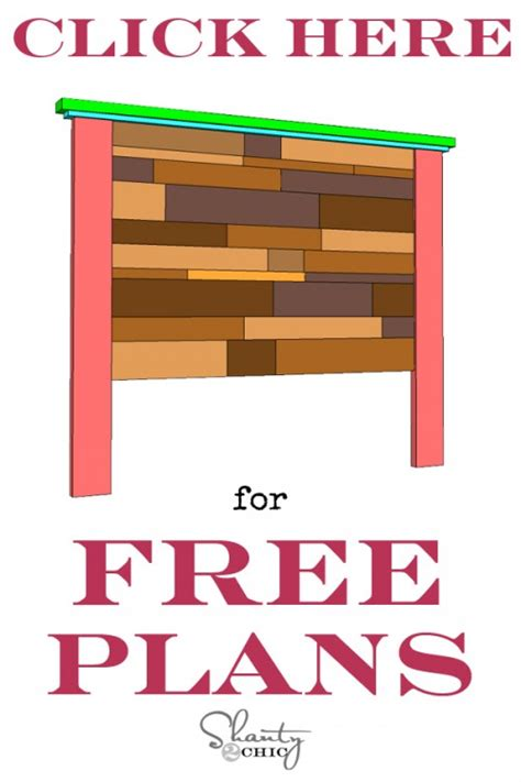 Home Creations Floor Plans by Diy Planked Headboard Shanty 2 Chic