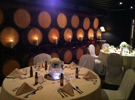 the barrell room rehearsal dinner in the barrel room picture of chaumette vineyards winery sainte genevieve