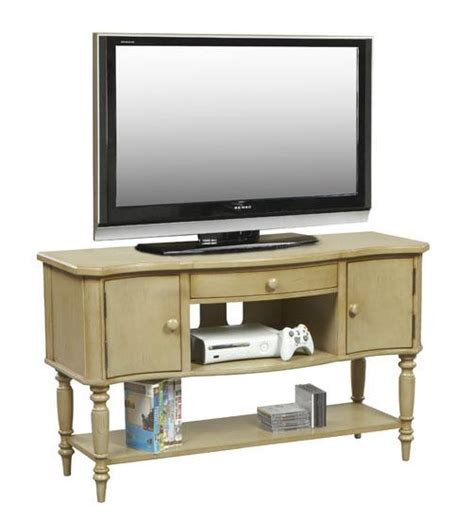 White Tv Console Table by Antique White Tv Console Media Table Ebay