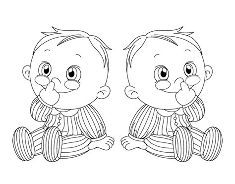 Twins Coloring Pages sketch template