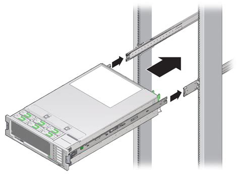 Rack Rails Server by Installing The Server Into The Slide Rail Assemblies Sun
