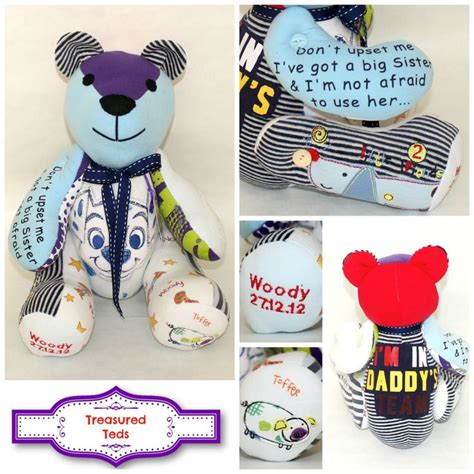 Handmade Teddy Bears From Clothes - pin by treasured teds memory bears on treasured teds