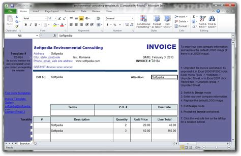 environmental consulting template