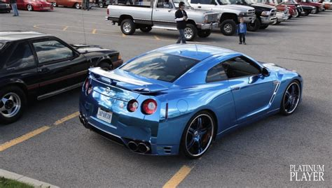 koenigsegg wrapped blue chrome wrapped nissan gt r on 22 inch asanti af 162