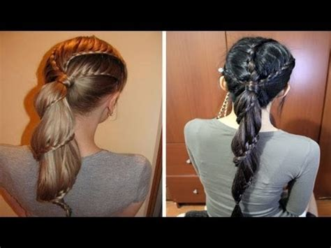 tutorial hairstyle youtube carousel winding lace braid ponytail hairstyle hair