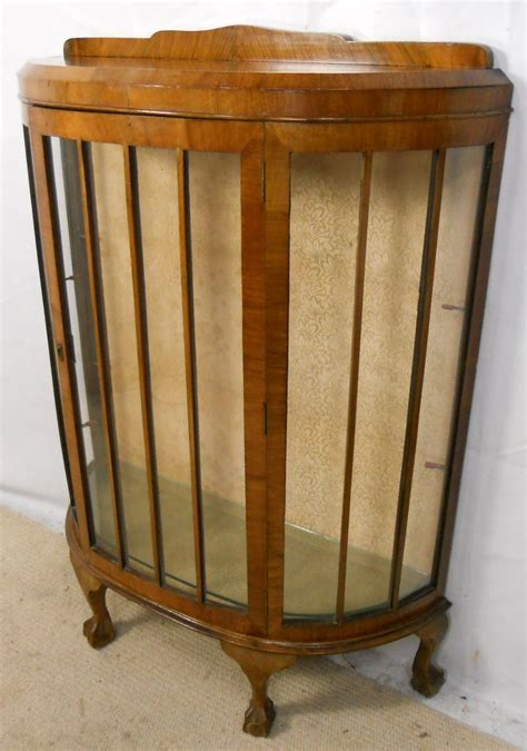 glass front display cabinet glass front walnut china display cabinet