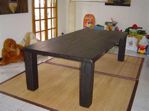 tavolo nero tavolo nero in legno lamellare di abete falegnameria
