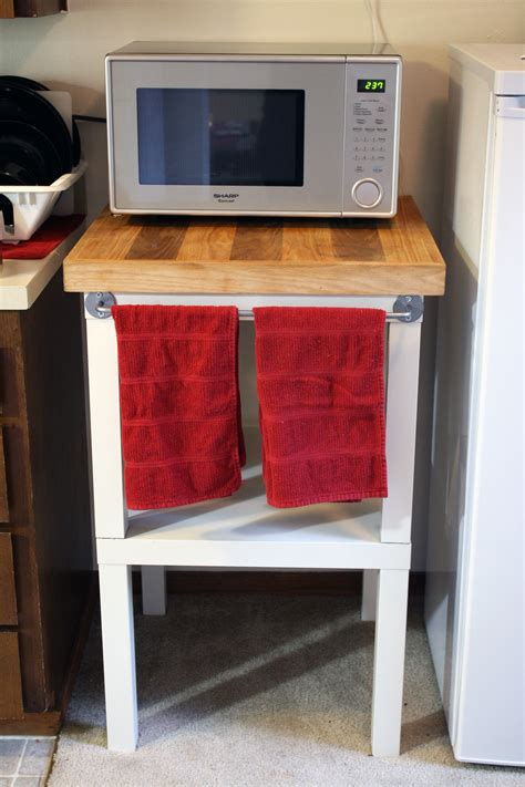 microwave table ikea bestmicrowave make more counter space with an ikea hack rainy day diy