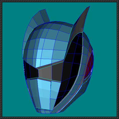 paper helmet template power rangers dekamaster s helmet papercraft free