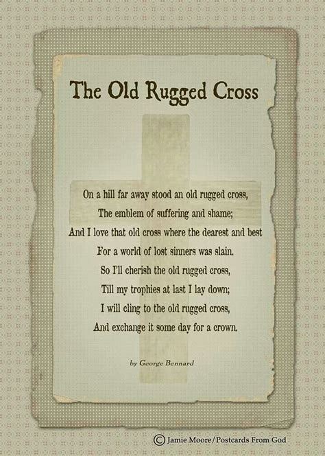 I Still Cling To The Rugged Cross Lyrics by The Rugged Cross Crafts