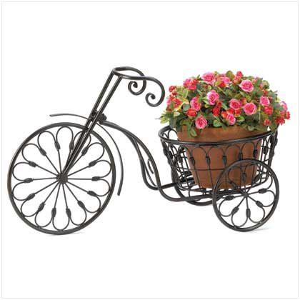 nostalgic bicycle home garden decor iron plant stand