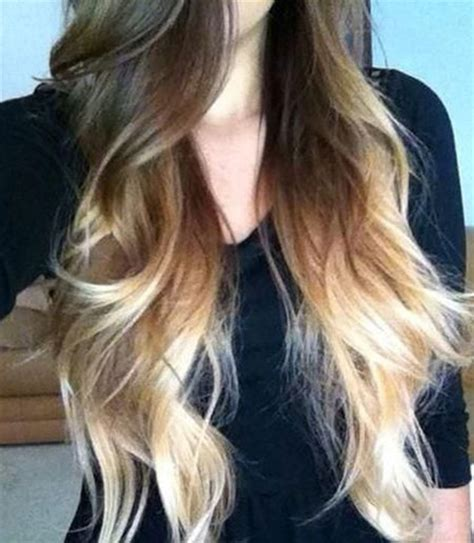 Ombre Bunette Blonde Brunette On Bottom | nice ombre hair color ideas hairstyles haircuts 2016