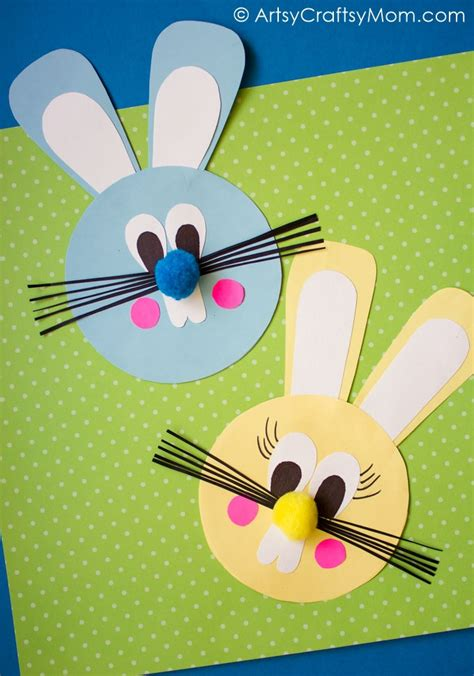 Easter Papercraft - easy easter bunny paper craft artsy craftsy