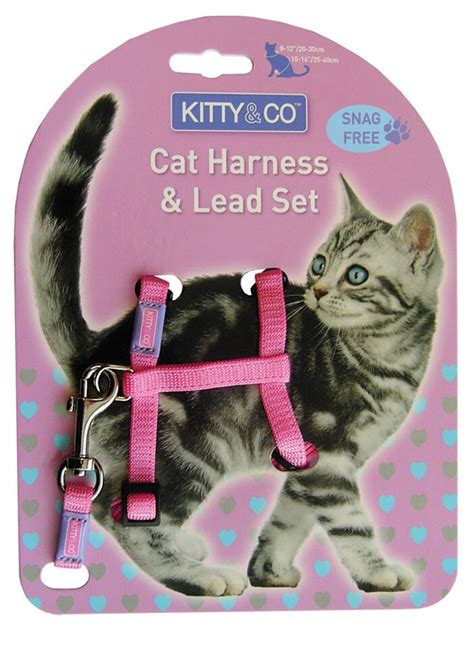 Pink Cat Set and co snag free pink cat harness lead set chelsea cats