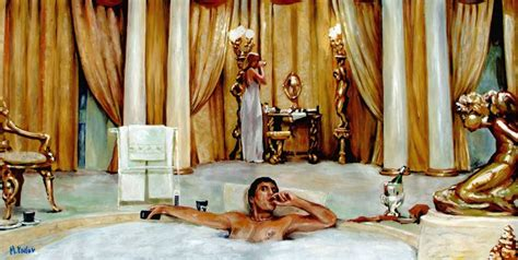 scarface bathtub scene time art gallery limited edition fine art reproduction